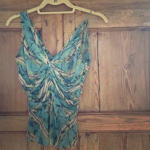Diane von Furstenberg silk chiffon top